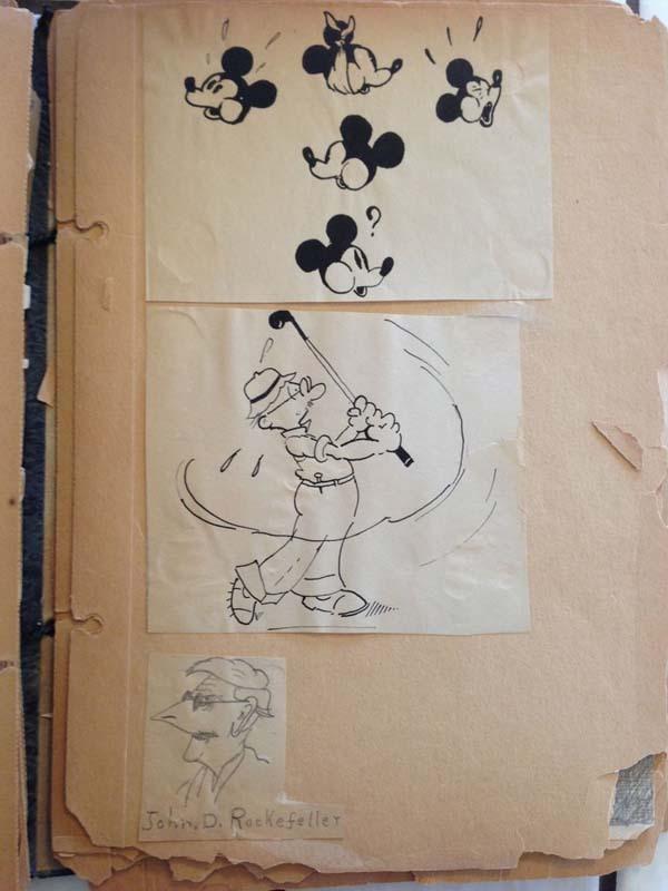 Bisnonno era disegnatore Disney, trova diario con disegni in soffitta 02