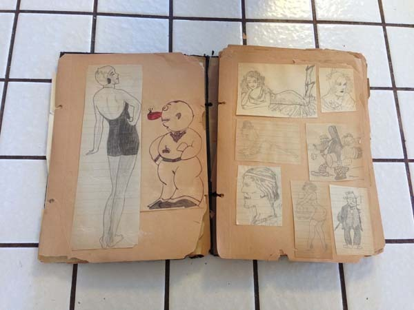 Bisnonno era disegnatore Disney, trova diario con disegni in soffitta 03