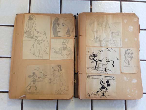Bisnonno era disegnatore Disney, trova diario con disegni in soffitta 04