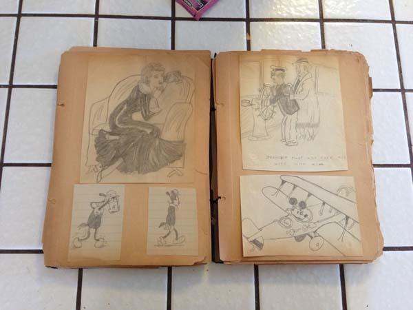 Bisnonno era disegnatore Disney, trova diario con disegni in soffitta 05