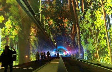 Francia: inaugurato il primo tunnel 'verde' per pedoni e ciclisti