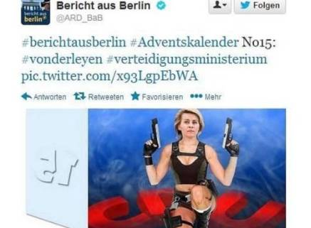 Berlino: Ursula von der Leyen, ministro Difesa come Lara Corft: è poelmica