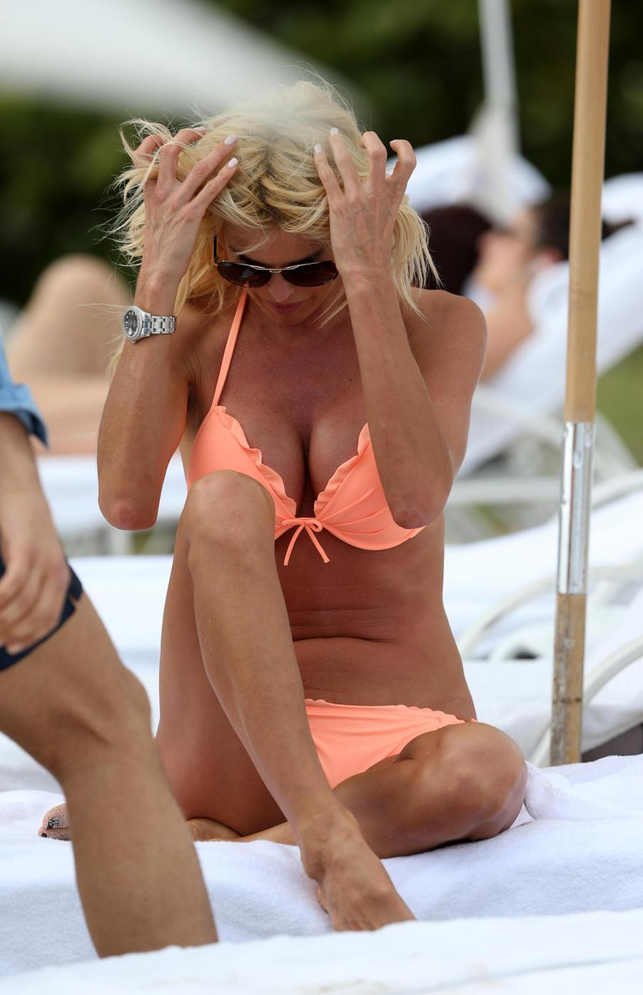 Victoria Silvstedt in vacanza a Miami02