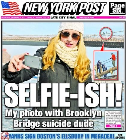 autoscatto con tentativo di suicidio sul nypost