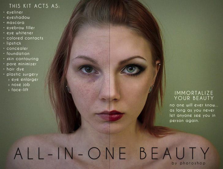 Marchi di bellezza, Anna Hill con Photoshop smaschera i 'trucchi' 03