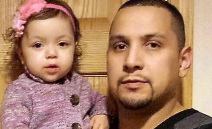 Papà perde 20kg in due mesi per donare il fegato a sua figlia Jazlyn