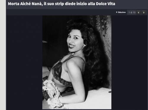 Roma, morta Aiché Nana: il suo celebre streep diede via alla Dolce Vita