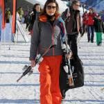 Alena Seredova (single) con i figli a Courmayeur05