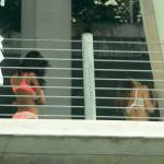 Beathi Prinsloo sul set a Miami02