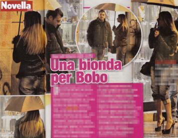 Bobo Vieri a Milano con una misteriosa bionda (foto)