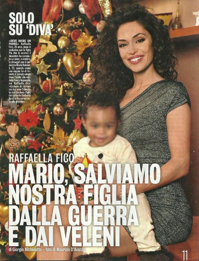 """Raffaella Fico, altro appello a Mario Balotelli: """"Deve dare il cognome a Pia"""""""