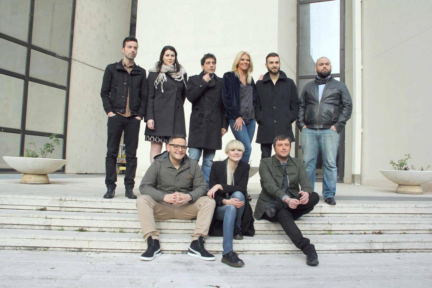 Presentazione alla stampa dei giovani che parteciperanno al prossimo festrival di Sanremo.