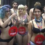 Seminaked party di Desigual anche a Madrid arrivi in mutande e....03