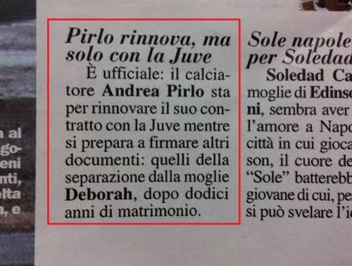 """Andrea Pirlo e Deborah Roversi si lasciano? Chi: """"Divorzio imminente"""""""