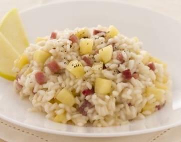 Ricette di primi: riso mele e speck
