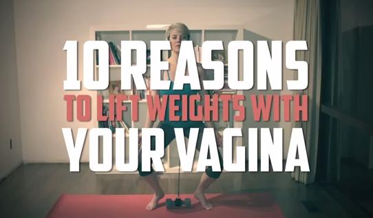 """""""10 buoni motivi per sollevare pesi con la propria vagina"""" (video)"""