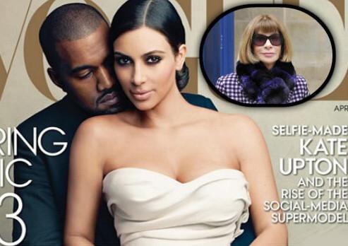 Kim Kardashian e Kanye West su copertina Vogue: bufera per Anna Wintour