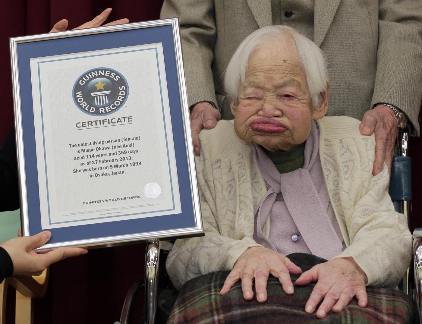 Misao Okawa compie 116 anni è la donna più vecchia del mondo05