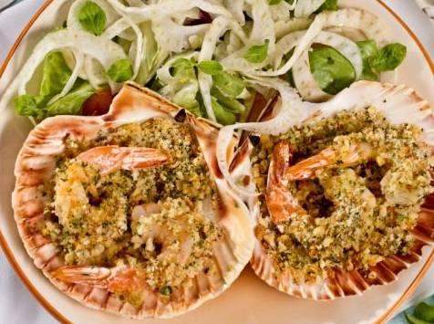 Ricette di pesce: gamberi gratinati