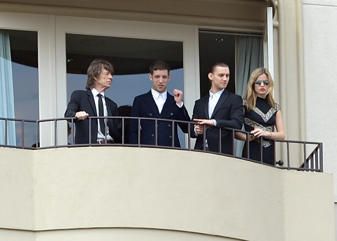 Mick Jagger e figli ai funerali di L' Wren Scott04