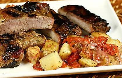 Ricette di carne: costine di maiale glassate agli agrumi