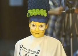 Modella si trasforma in Marge Simpson grazie al make up