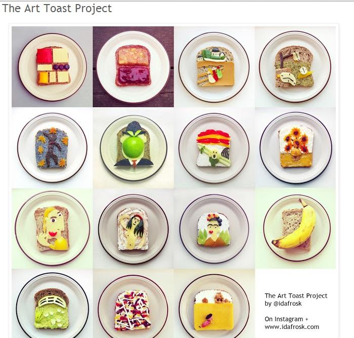 """The Art Toast Project"": quadri d'autore commestibili"