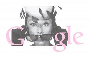 Audrey Hepburn: doodle di Google per l'attrice-icona