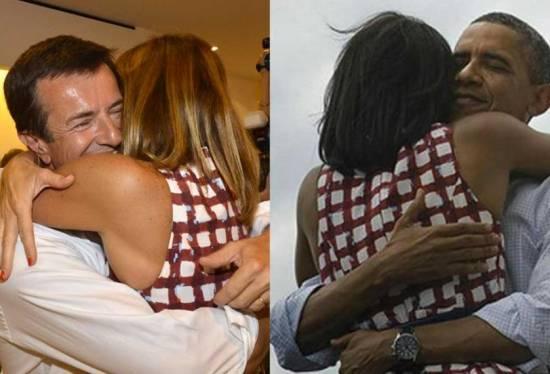 Cristina Parodi come Michelle Obama... e Giorgio Gori imita Barack