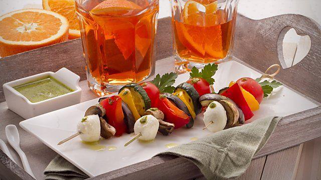 Finger food: spiedini di verdure con salsa agrodolce