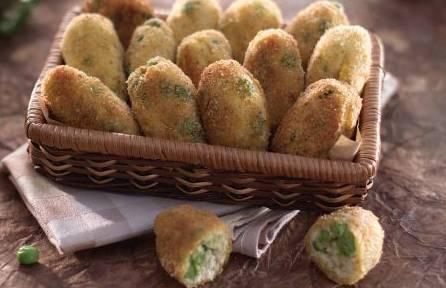 Finger food: crocchette di pollo con pisellini