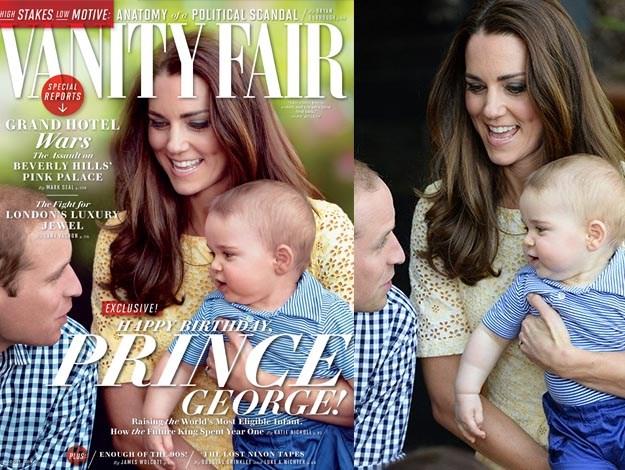 George compie 1 anno: in copertina su Vanity Fair con mamma Kate e papà William
