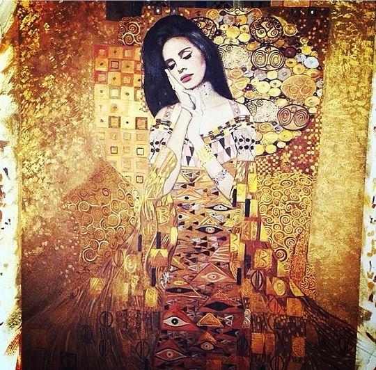 Lana Del Rey diventa un quadro di Klimt grazie a Mr. Brainwash (foto)