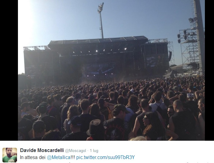 Davide Moscardelli al concerto dei Metallica (foto)