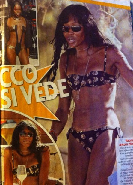 Naomi Campbell e Kate Moss: irriconoscibili a Ibiza (foto)