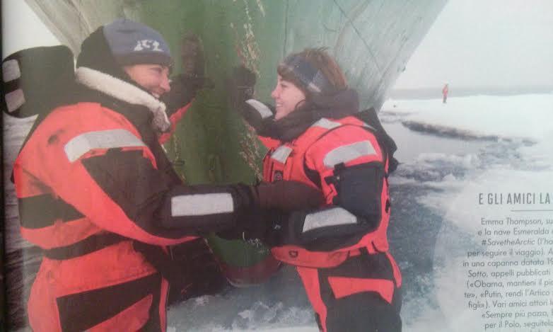Emma Thompson: l'attrice in missione con Greenpeace al Polo Nord (foto)