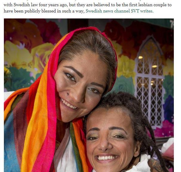 Stoccolma: imam celebra prime nozze gay fra due musulmane
