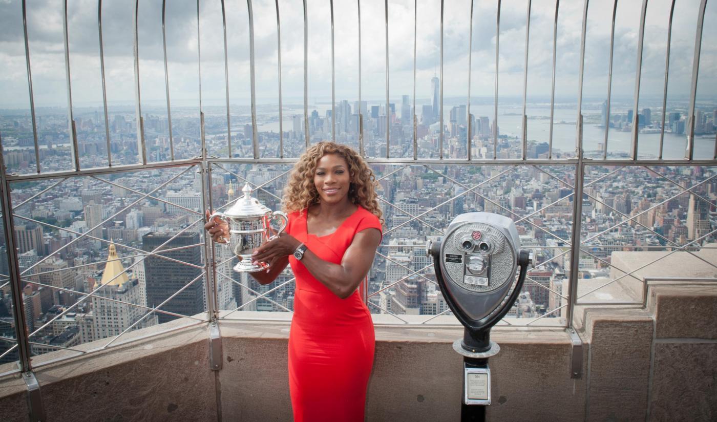 Serena Williams festeggia sull'Empire State Building03