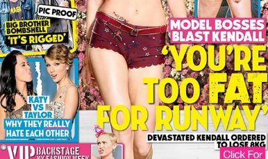 """Kendall Jenner, rivista australiana la critica: """"troppo grassa"""" per sfilare"""