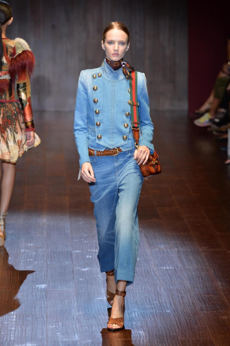 MFW: Gucci rilancia lo stile denim (FOTO)
