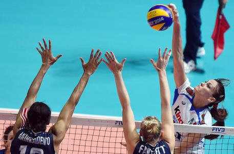 Mondiali volley femminile 2014: Italia batte Usa 3-0