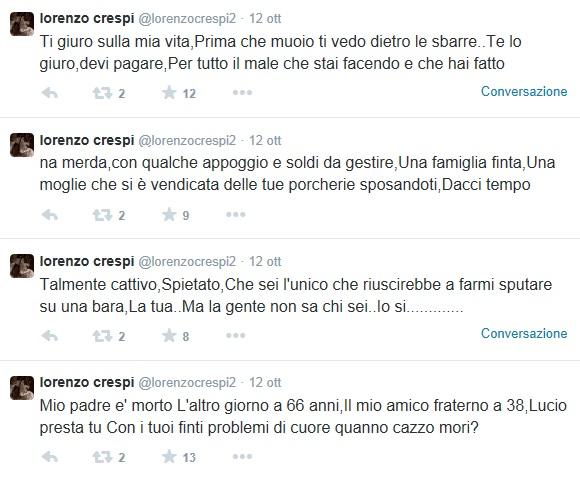 """Lorenzo Crespi choc VS Lucio Presta: """"Prima che muoio ti vedo dietro le sbarre"""""""