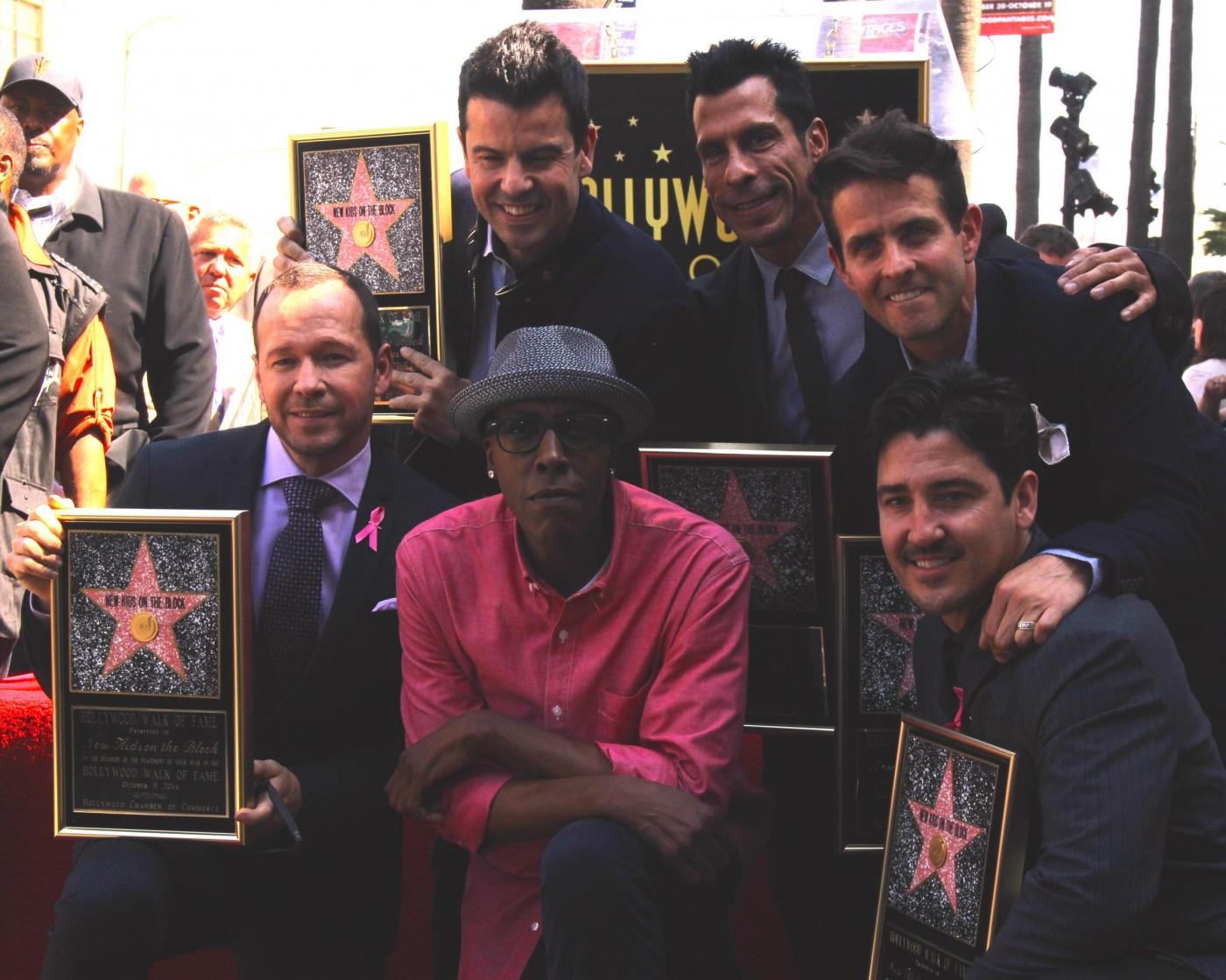New Kids on the Block nella Walf of Fame di Hollywood Boulevard01