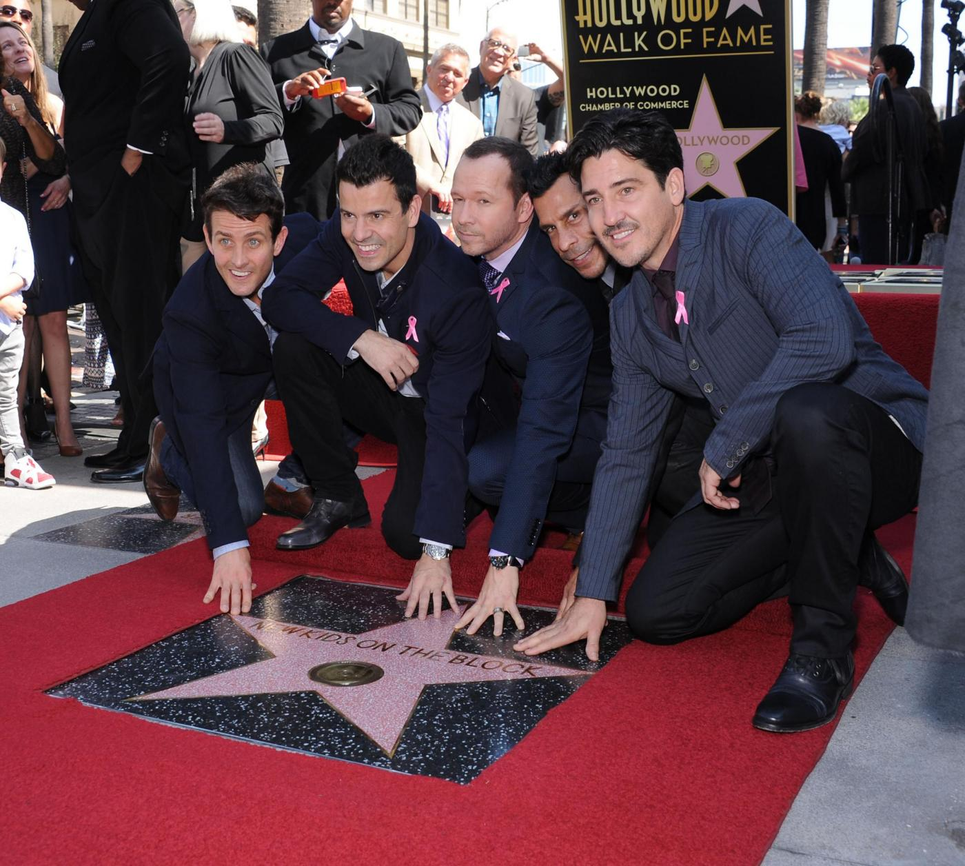 New Kids on the Block nella Walf of Fame di Hollywood Boulevard10