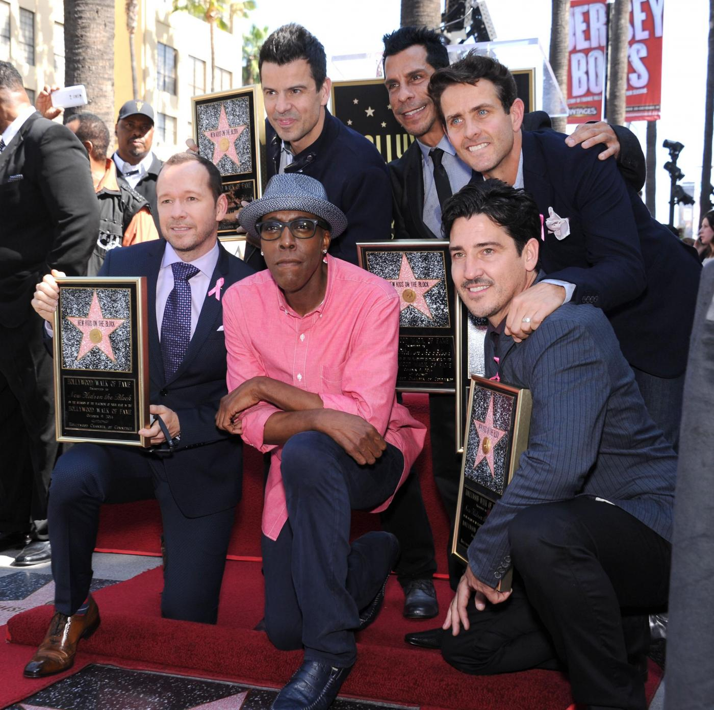 New Kids on the Block nella Walf of Fame di Hollywood Boulevard11