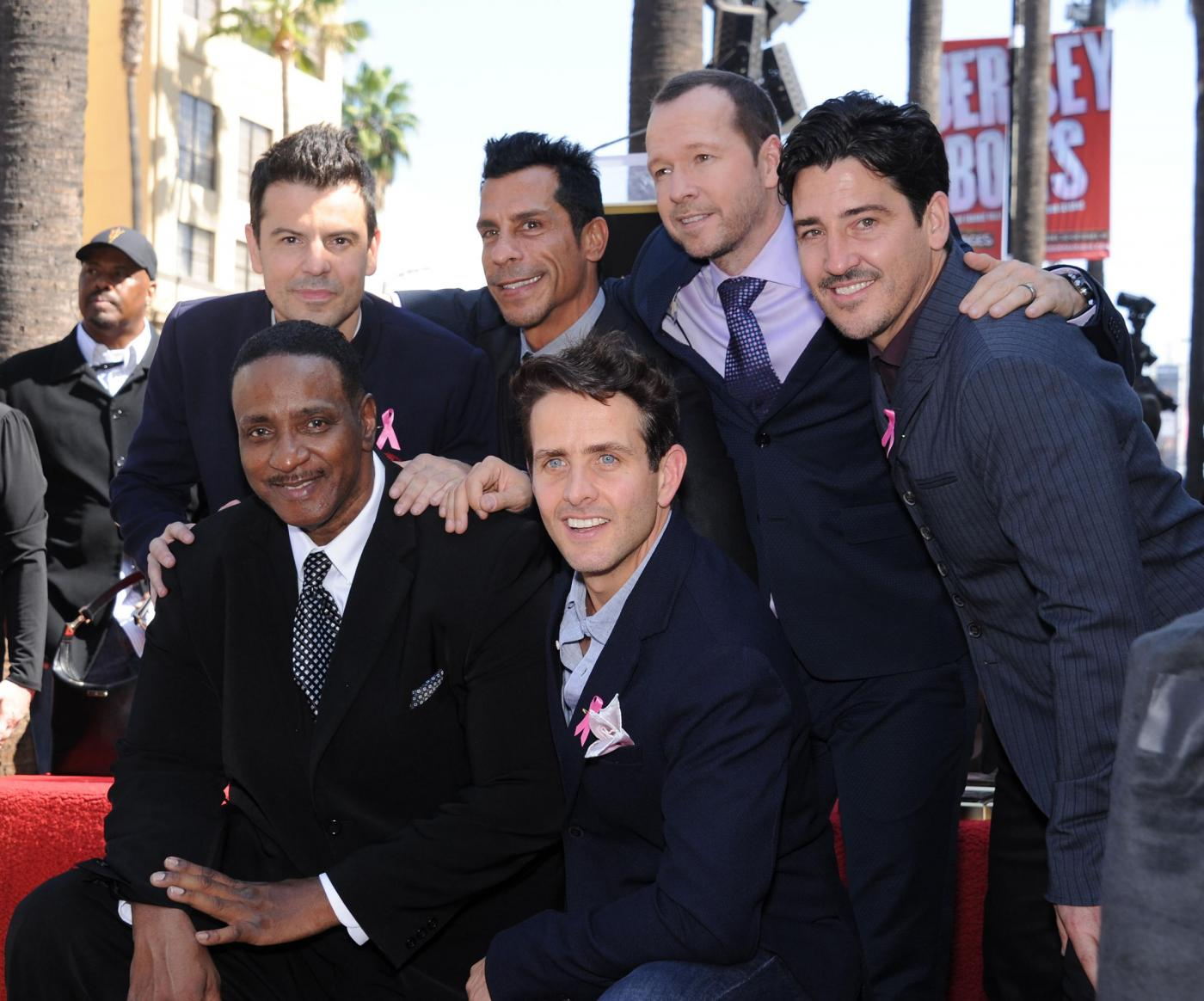 New Kids on the Block nella Walf of Fame di Hollywood Boulevard12