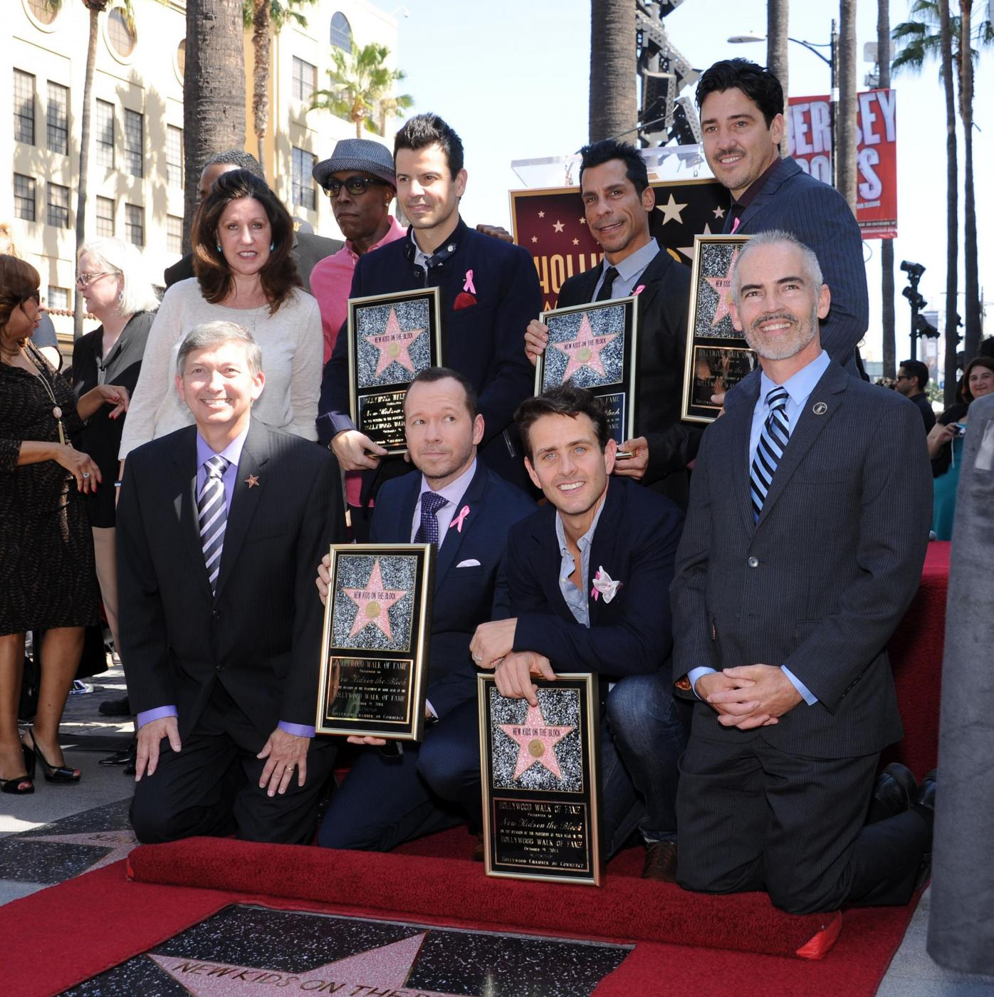New Kids on the Block nella Walf of Fame di Hollywood Boulevard13