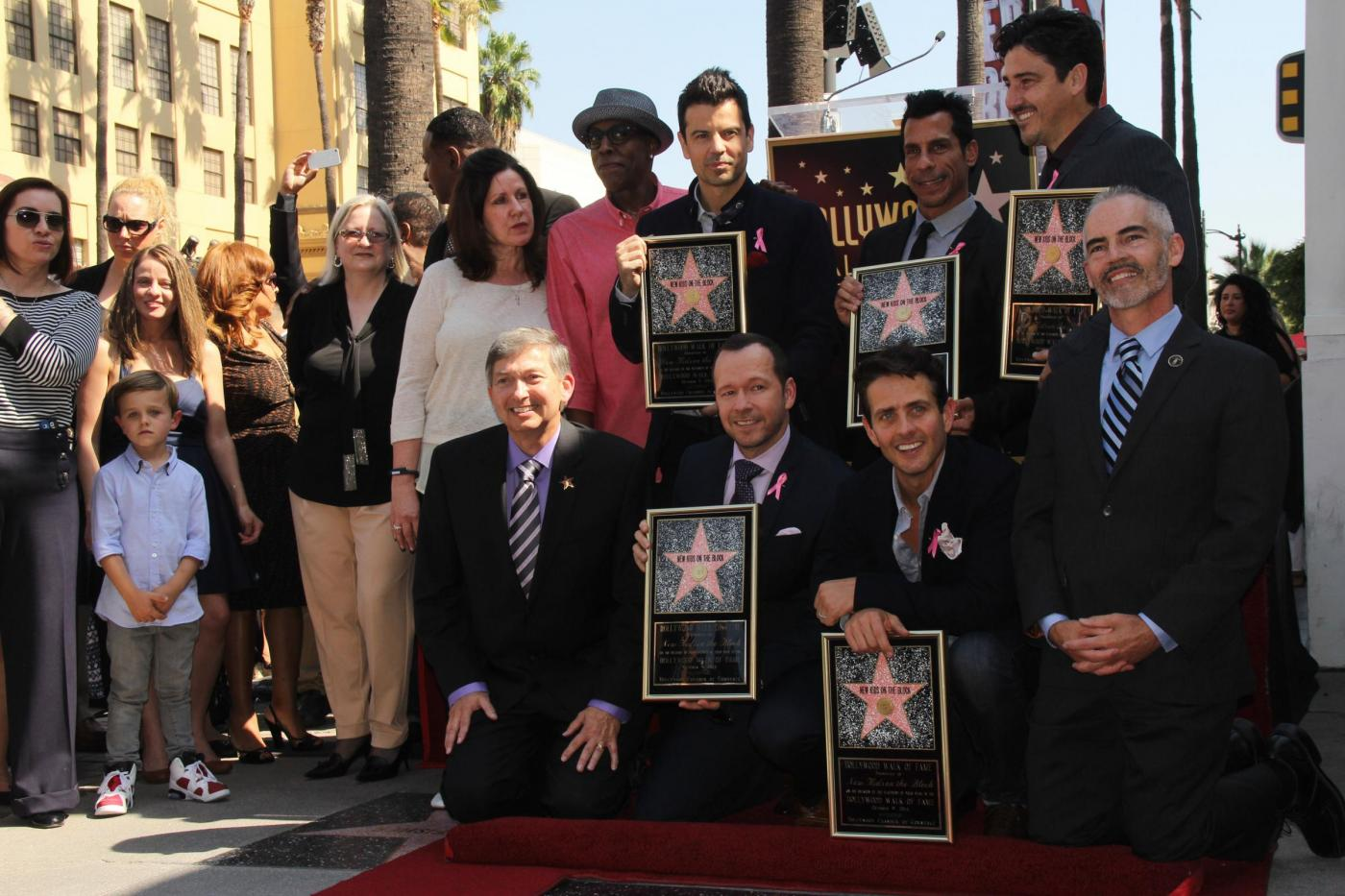 New Kids on the Block nella Walf of Fame di Hollywood Boulevard15