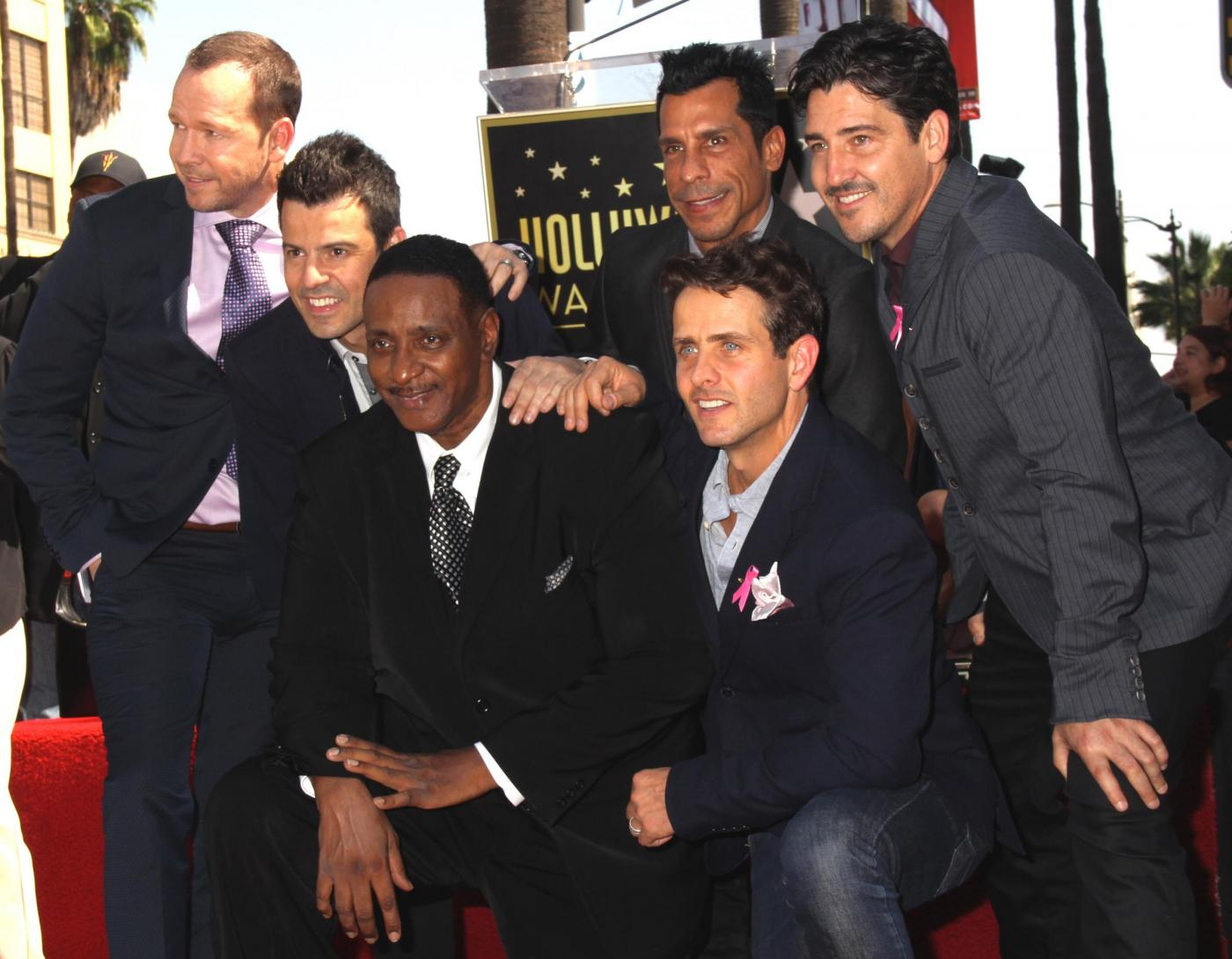 New Kids on the Block nella Walf of Fame di Hollywood Boulevard03