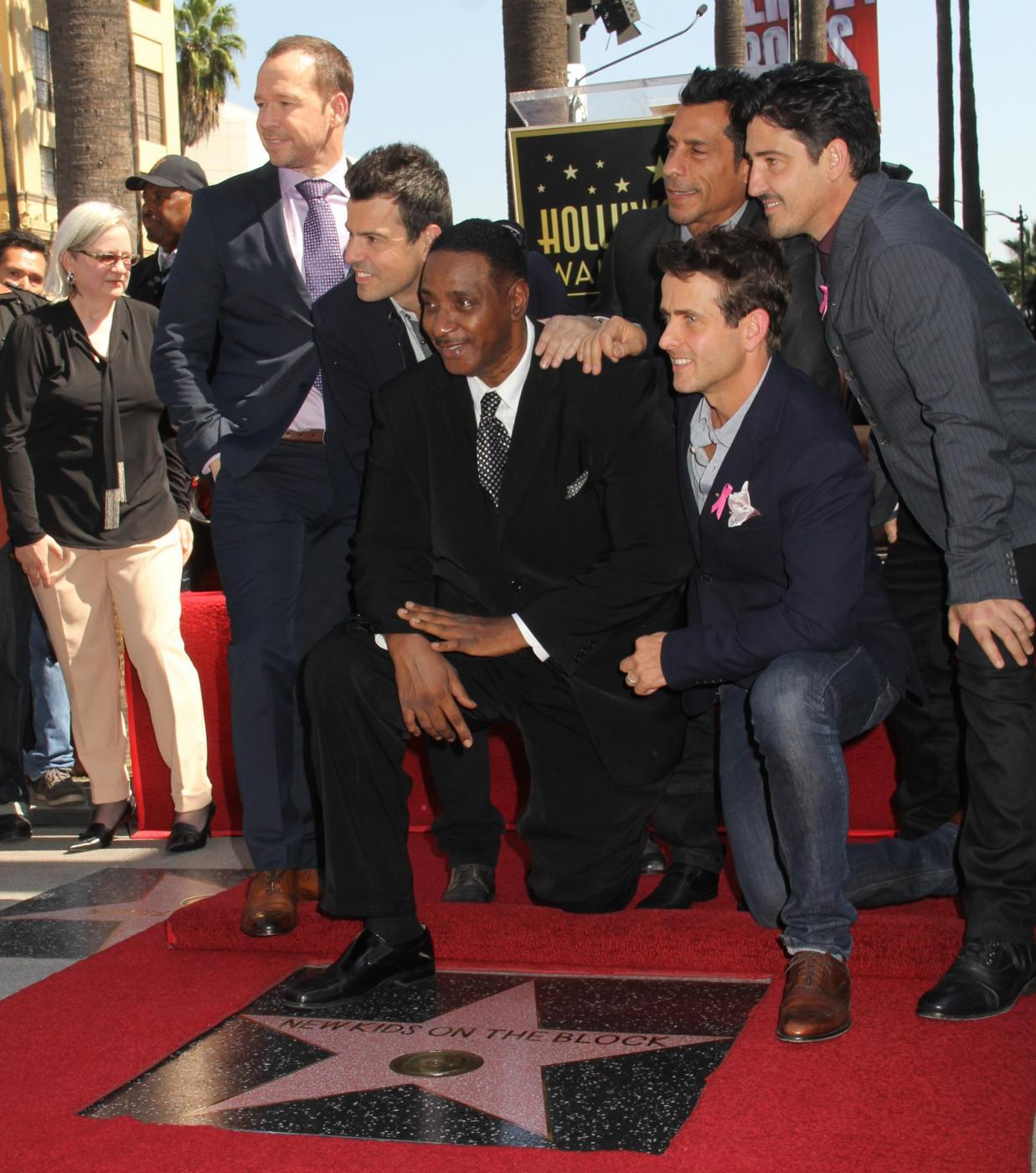 New Kids on the Block nella Walf of Fame di Hollywood Boulevard04